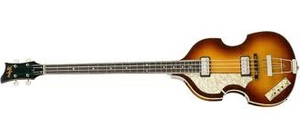 Picture Of Left handed Hofner Violin Bass In Sunburst