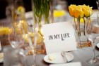 Wedding Top Table Set With Beatles Lyric Cards