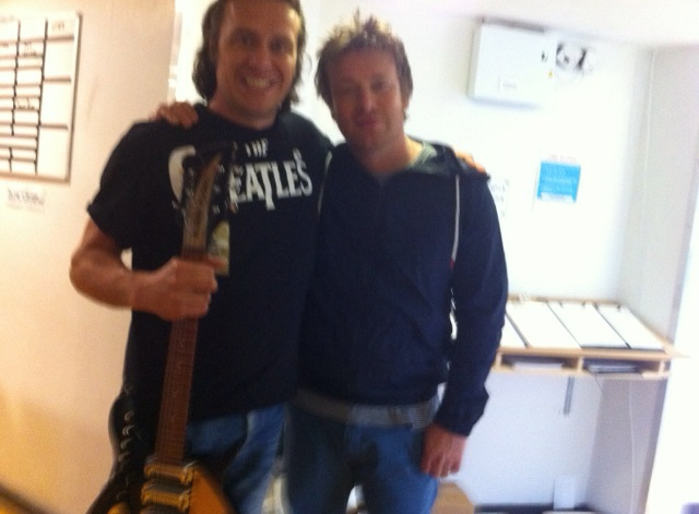 Jamie Oliver with The Cheatles 'Lennon'